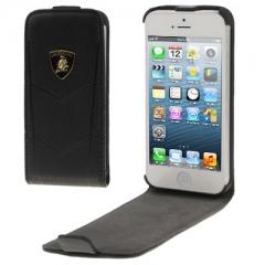 Чехол книжка Lamborghini для iPhone 5 черный