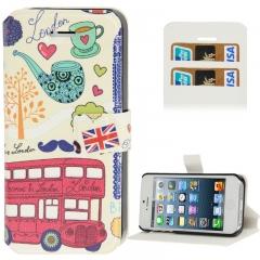 Чехол книжка для iPhone 5S Лондон