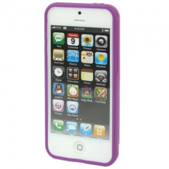 Бампер для iPhone 5 фиолетовый