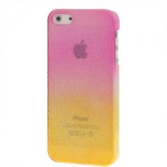 Чехол градиент для iPhone 5 желто-розовый