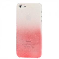 Чехол градиент для iPhone 5S красно-белый