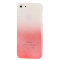Чехол градиент для iPhone 5 красно-белый
