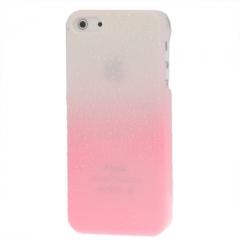 Чехол градиент для iPhone 5S бело-розовый