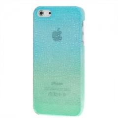 Чехол градиент для iPhone 5 зелено-голубой