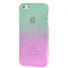 Чехол градиент для iPhone 5 зелено-розовый