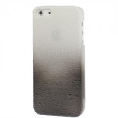 Чехол градиент для iPhone 5 черно-белый