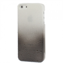 Чехол градиент для iPhone 5S черно-белый