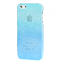 Чехол градиент для iPhone 5S сине-голубой