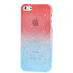 Чехол градиент для iPhone 5 красно-синий