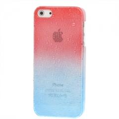 Чехол градиент для iPhone 5S красно-синий