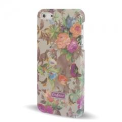 Чехол с Цветочками для iPhone 5S серый