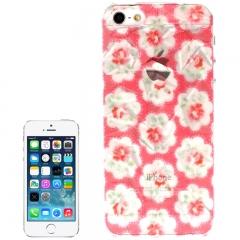 Чехол 3D для iPhone 5 с Цветочками красный