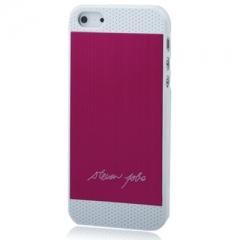 Чехол Steven Jobs для iPhone 5S розовый