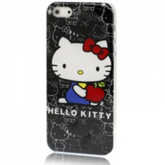 Чехол Hello Kitty для iPhone 5 черный