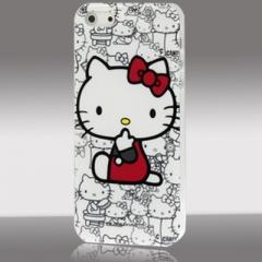 Чехол Hello Kitty для iPhone 5S белый