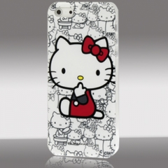 Чехол Hello Kitty для iPhone 5S белый