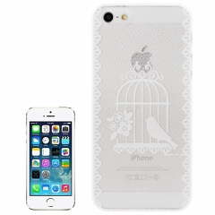 Чехол для iPhone 5 белая птичка