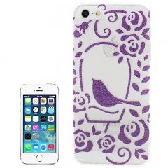 Чехол для iPhone 5 фиолетовая птичка