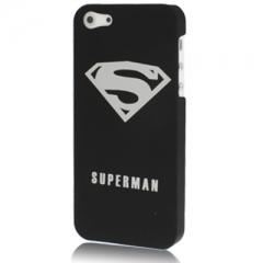 Чехол SuperMan для iPhone 5S черный