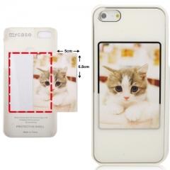 Чехол с Фото для iPhone 5 белый