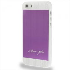 Чехол Steven Jobs для iPhone 5S сиреневый