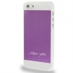 Чехол Steven Jobs для iPhone 5 сиреневый