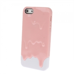 Чехол Мороженое для iPhone 5S розовый