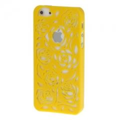 Чехол Rose для iPhone 5S желтый
