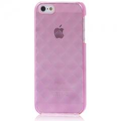 Пластиковый чехол 3D для iPhone 5S розовый