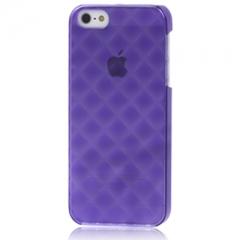 Пластиковый чехол 3D для iPhone 5S фиолетовый