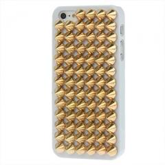Чехол с золотыми шипами для iPhone 5S белый