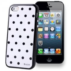 Чехол SGP в горошек для iPhone 5 черный