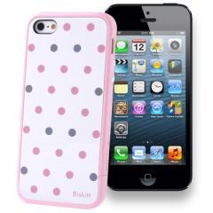 Чехол SGP в горошек для iPhone 5 розовый