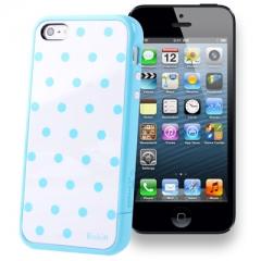 Чехол SGP в горошек для iPhone 5 голубой