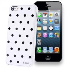 Чехол SGP в горошек для iPhone 5 белый