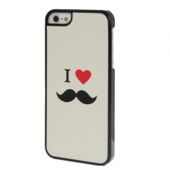 Чехол для iPhone 5 I Love белый