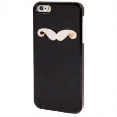 Чехол усы для iPhone 5S черный
