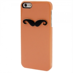Чехол Усы для iPhone 5 персиковый