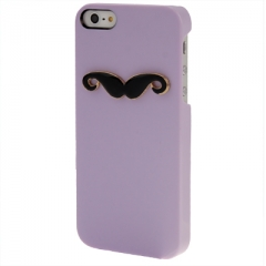Чехол Усы для iPhone 5 лиловый