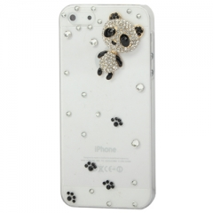 Чехол для iPhone 5S Панда со стразами