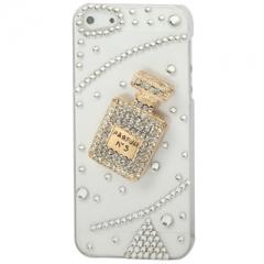 Чехол Chanel для iPhone 5 со стразами