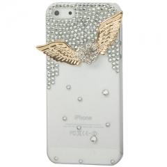 Чехол для iPhone 5S Сердечко со стразами