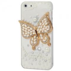 Чехол для iPhone 5 Бабочка со стразами