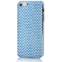 Чехол для iPhone 5 со Стразами голубой