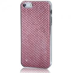 Чехол для iPhone 5S со Стразами розовый