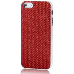 Чехол для iPhone 5S со Стразами красный