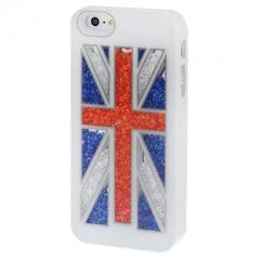 Чехол Британский флаг для iPhone 5 со стразами