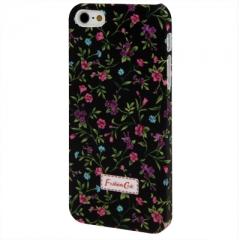 Чехол с Цветочками для iPhone 5S черный