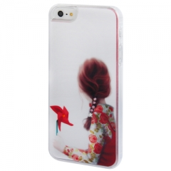 Чехол Девочка 3 для iPhone 5S со стразами
