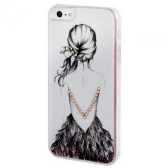 Чехол Девочка 2 для iPhone 5S со стразами